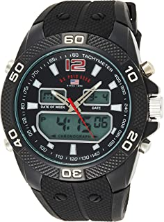 U.S. Polo Assn. US9593 Men's Quartz Watch, Analog Display and Stainless Steel Strap