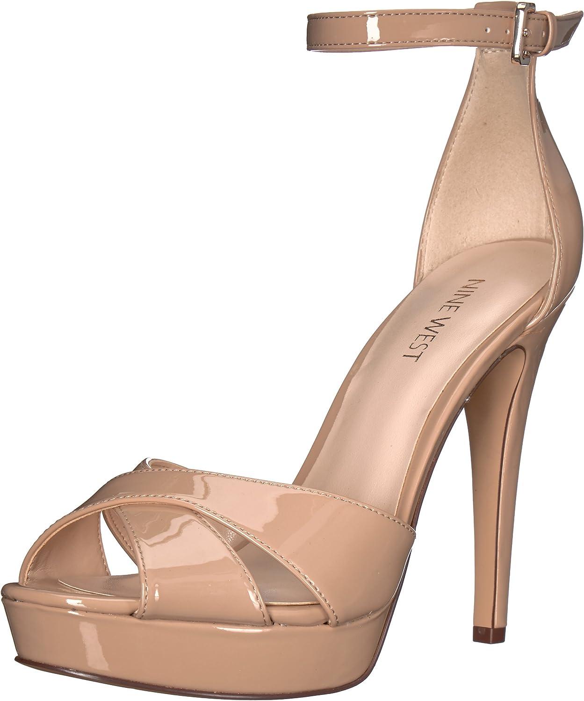 Nine West Women's Dryday Synthetic Heeled Sandal