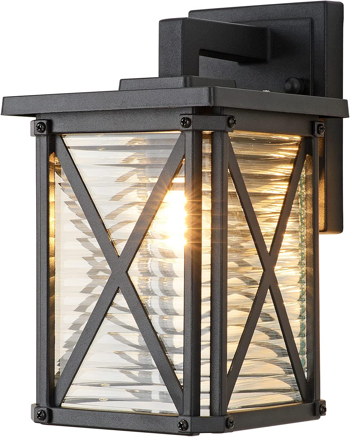 Modern Outdoor Wall Sconce Light Black Alumi with Fixtures Sales results Max 41% OFF No. 1 Matte