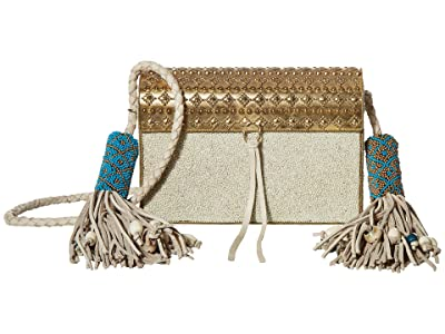 Sam Edelman Indigo Beaded Iron Bag (Marshmallow) Handbags