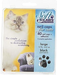 Feline Soft Claws Cat Nail Caps Take-Home Kit, Large, Black