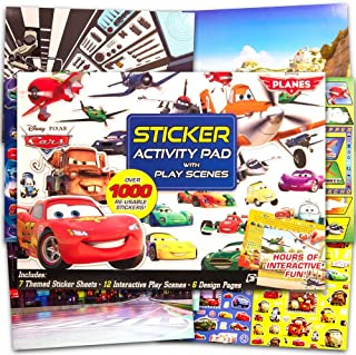 Disney Cars Stickers & Activity Book Set (192 Stickers, 20 Pg Activity Book, 4 Play Scenes, Carry Case)