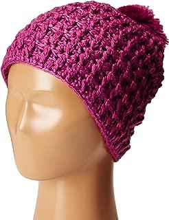Coal Women's Hand-Crocheted Waffle-Knit Beanie with Pom