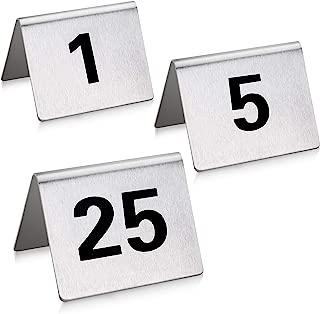 Best metal table numbers Reviews