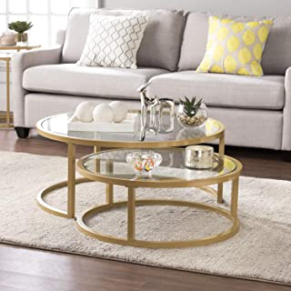 SEI Furniture Evelyn Glam Nesting 2-pc Set, Coffee Table,...