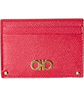 Salvatore Ferragamo - Gancini Logo Leather Card Case