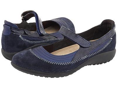 Naot Kirei (Polar Sea Leather/Blue Velvet Suede/Navy Patent Leather) Women