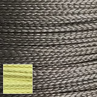 400lb 100% Dupont Kevlar Braided Line, 1.7mm Dia, Cut and Abrasion Resistant, Low Stretch (Heavy Duty Speargun Band Constrictor line, Model Rocket Paracord, Survival/Tactical)