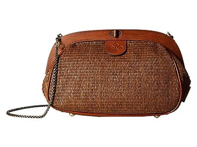 Patricia Nash Raffia Gracchi Satchel (Tobacco) Satchel Handbags