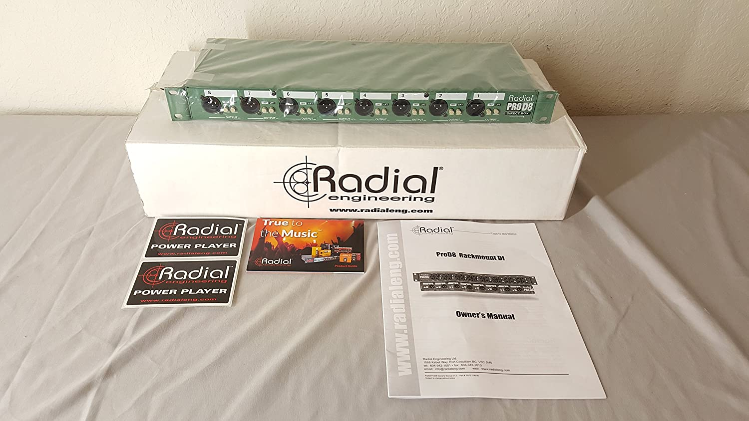 Memphis Mall Detroit Mall Radial Engineering ProD8 Eight Rackmount Channel DI