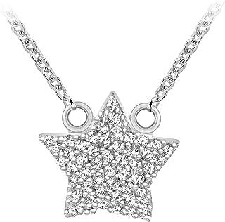 Tuscany Silver 标准纯银镀铑方晶锆石项链