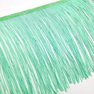 2 Yards Fringe Tassel Trim 20CM Wide Fringe Trim (Mint Green)