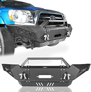 u-Box Destroyer Front Bumper Guard Full Width Off Road Tacoma Bumper w/Winch Plate for 2005-2015 2nd Gen Toyota Tacoma