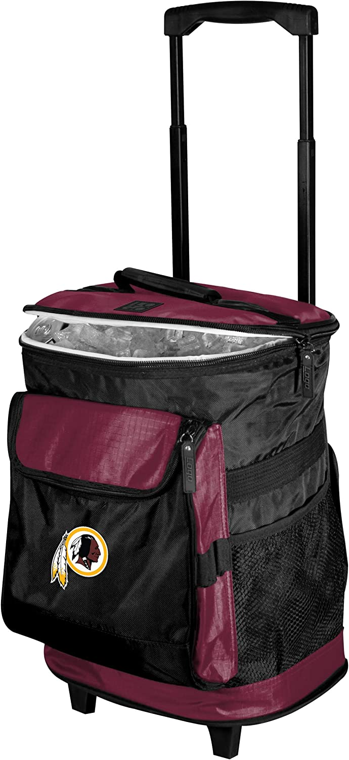 NFL 48Can Rolling Cooler with Wheels and Backpack Straps