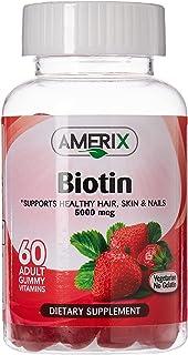 AMERIX Adult Biotin Vitamin Gummies, 60 Count