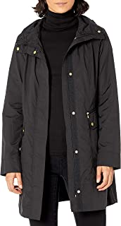 Women's Packable Hooded Rain Jacket with Bow