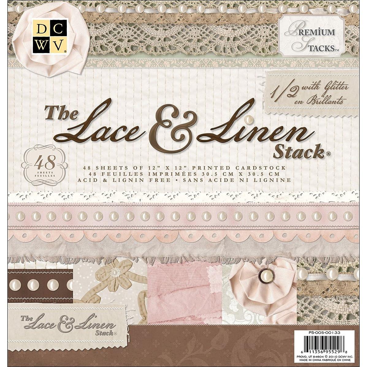 Paper Stack 12x12 48/Pkg-Lace & Linen