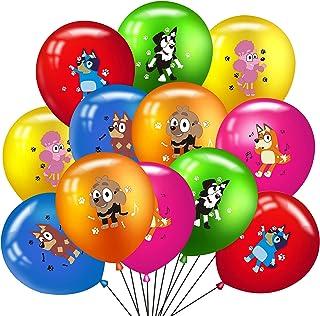 48PCS Bluey and Bingo Latex Balloons Party Supplies, Bluey Balloons Party Favors for Kids Birthday Bluey Theme Party Decor...