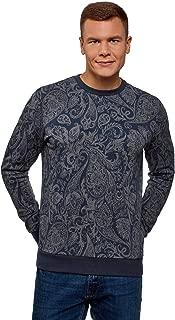 oodji Ultra Men's Crew Neck Printed Sweatshirt