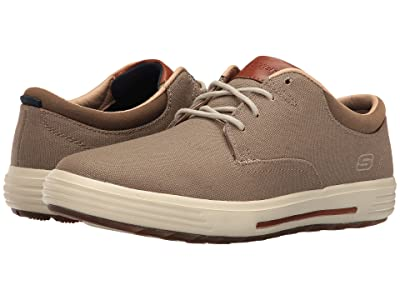 SKECHERS Classic Fit Porter Zevelo (Khaki Canvas) Men