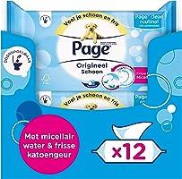Page Vochtig Toiletpapier - Orgineel Schoon - 456 Stuks (12 x 38 Stuks) - Voordeelverpakking
