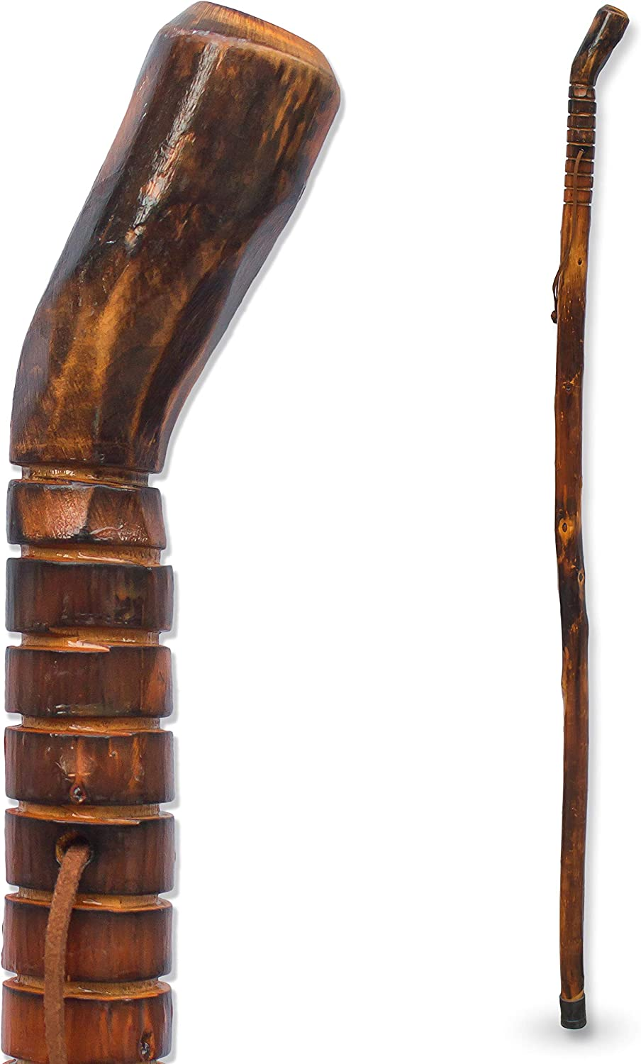 RMS Natural Wood Walking Stick Cheap sale Brand new - Wooden Handcrafted Inch 55 Hiki