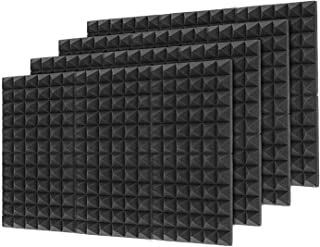 "Sponsored Ad - 48Packs Acoustic Foam Panels,Flame Retardant SoundProof Padding Foam Panels,1"" X 12"" X 12"" Studio Foam Pyra..."