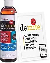DeMite Laundry Additive (8 oz) Allergen Eliminator with Bonus eBook - Expert Pro Tips to Eliminate Dust Mite Allergens