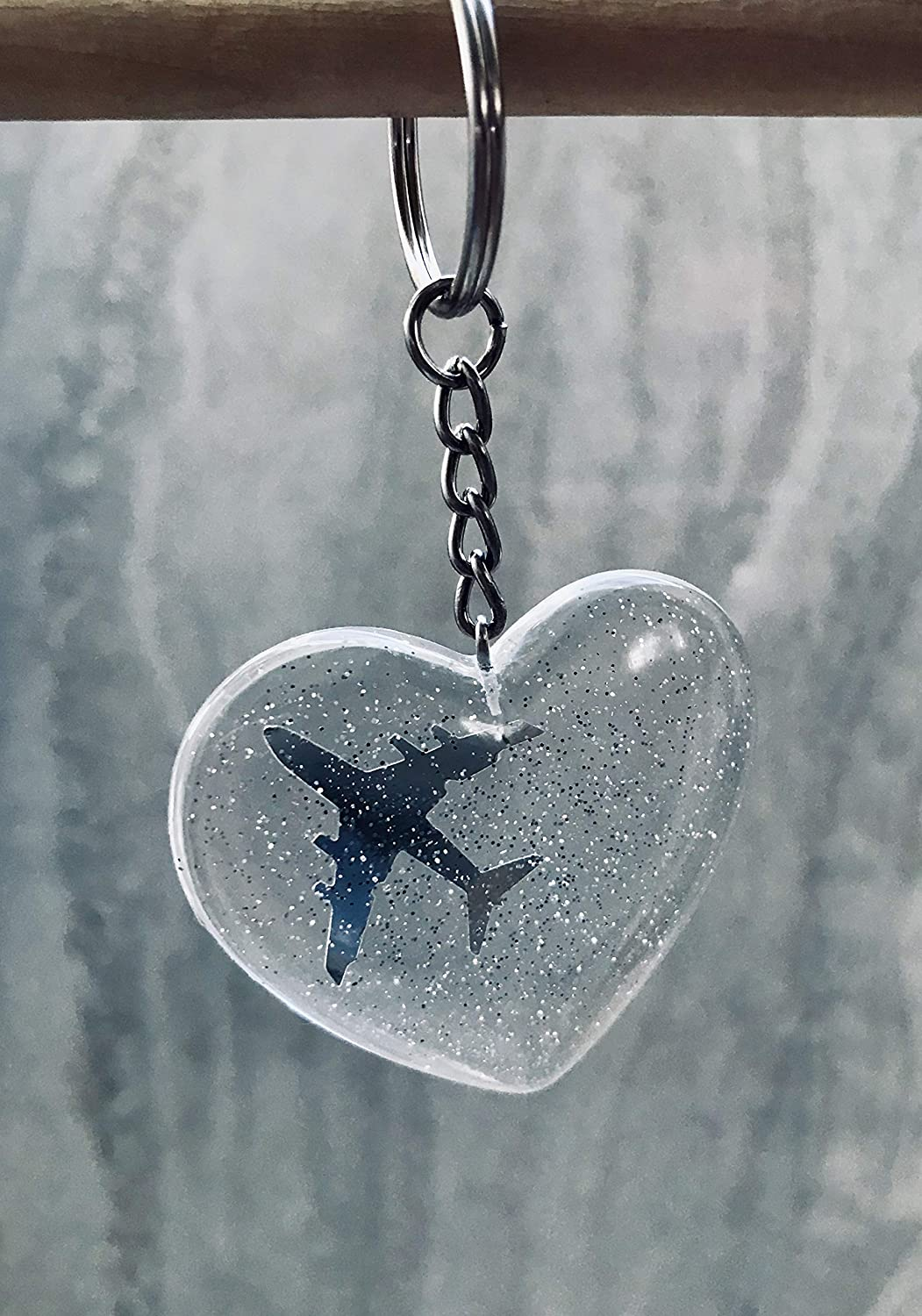 Starry Jacksonville Mall Night Keychain Online limited product Airplane