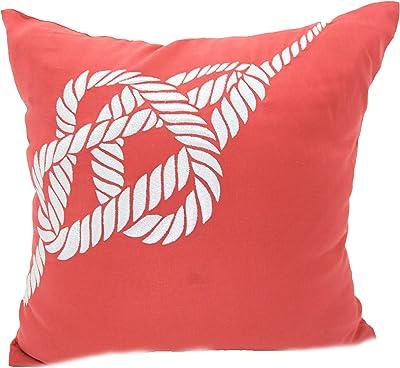 Amazon.com: Coral Throw decorativo funda de almohada naranja ...