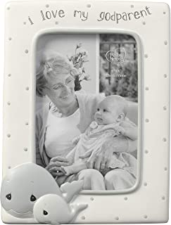 Precious Moments Whale I Love My Godparent 4 x 6 Resin & Glass 183408 Photo Frame One Size Multi