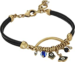 Lucky Brand - Hamsa Charm Leather Bracelet