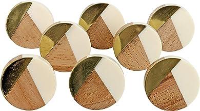 G Decor England Set van 8 White Gold knoppen…