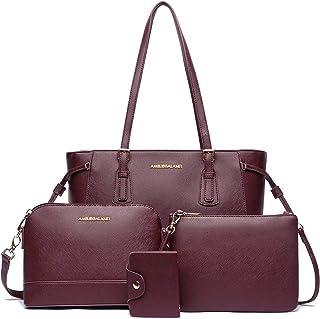 حقائب اليد للنساء حقائب الكتف حمل حقيبة هوبو 4 قطع محفظة مجموعة