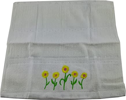 Duke Stevens White Daisy Floral Wash Cloth