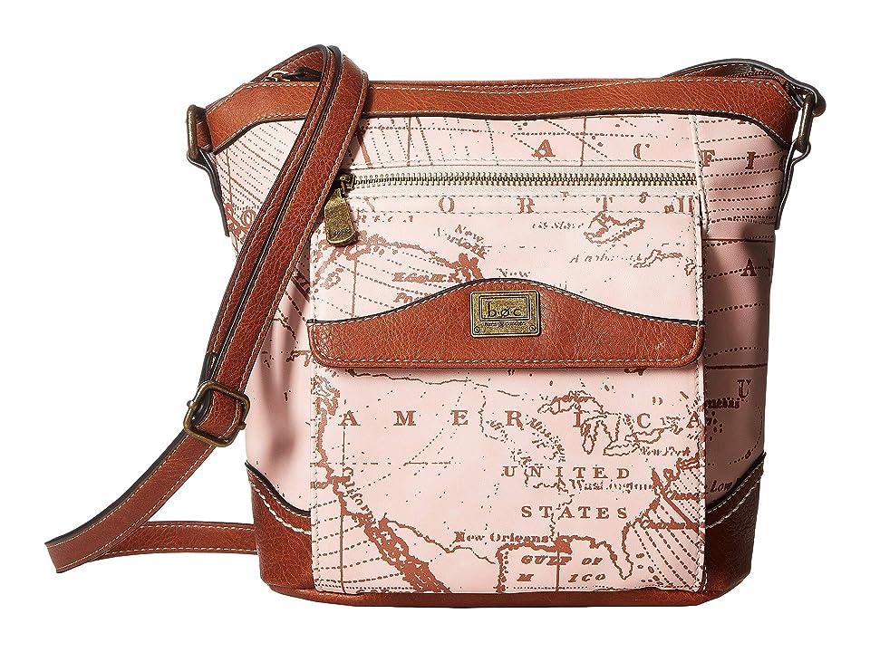 b.o.c. Voyage Organizer Crossbody (Dusty Pink/Saddle) Handbags, b.o.c. Voyage Organizer Crossbody (Dark Saddle/Chocolate) Handbags, Brown