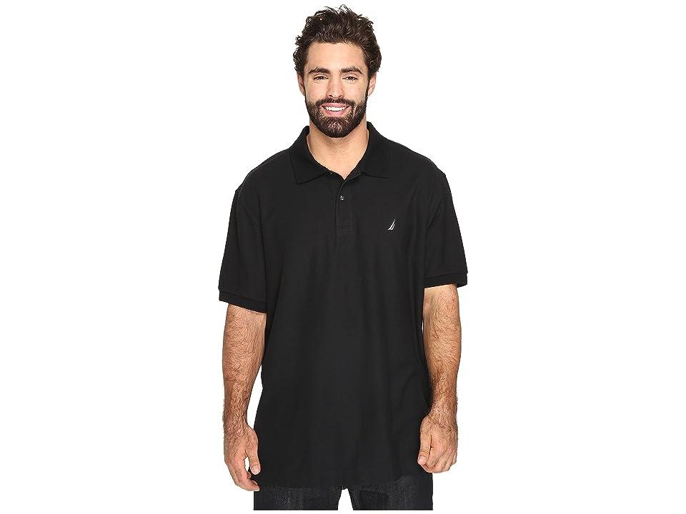 Nautica Big & Tall Big Tall Anchor Solid Deck Shirt (True Black) Men