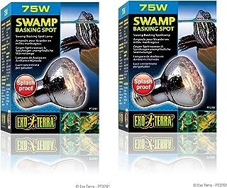 (2 Pack) Exo Terra Swamp Glo Basking Spot Lamp, 75 Watt