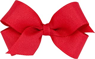 Wee Ones Girl's Mini Grosgrain Hair Bow on No Slip Clip