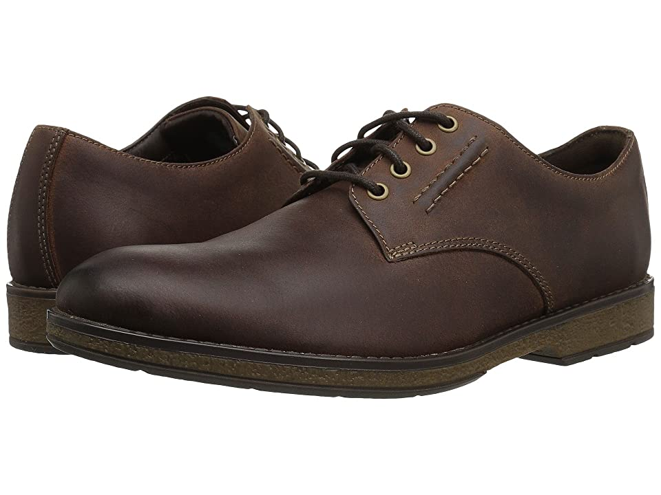 Clarks Hinman Plain (Mahogany Leather) Men