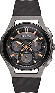 Bulova Men's 44mm CURV Collection Dark Gray Chronograph Watch