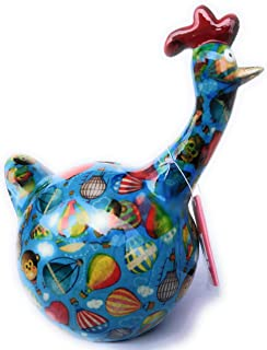 Skarbonka jabłko Pidou, ceramika, kurczak, Gregory Air Balloons Trueblue 16,3 x 10,5 x 18,3 cm