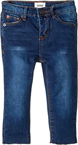 Knit Denim Raw Hem Ankle Skinny in Blue Depth (Infant)