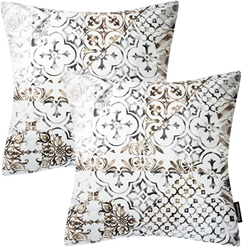 new arrival Phantoscope Living Series Set of online 2 Coffee Throw Pillow Case Cushion Cover Classical Ornament 18 x 18 inch wholesale 45 x 45cm outlet online sale