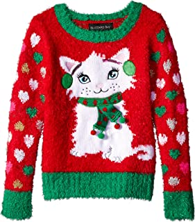 Girls Ugly Christmas Sweater Cat