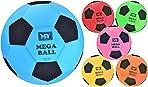 KandyToys 45cm Mega Ball - Colourful Inflatable Football in Net