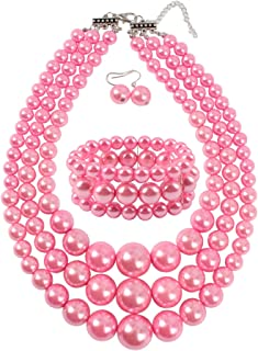 Large Pearl Jewelry Set Pearl Statement 18