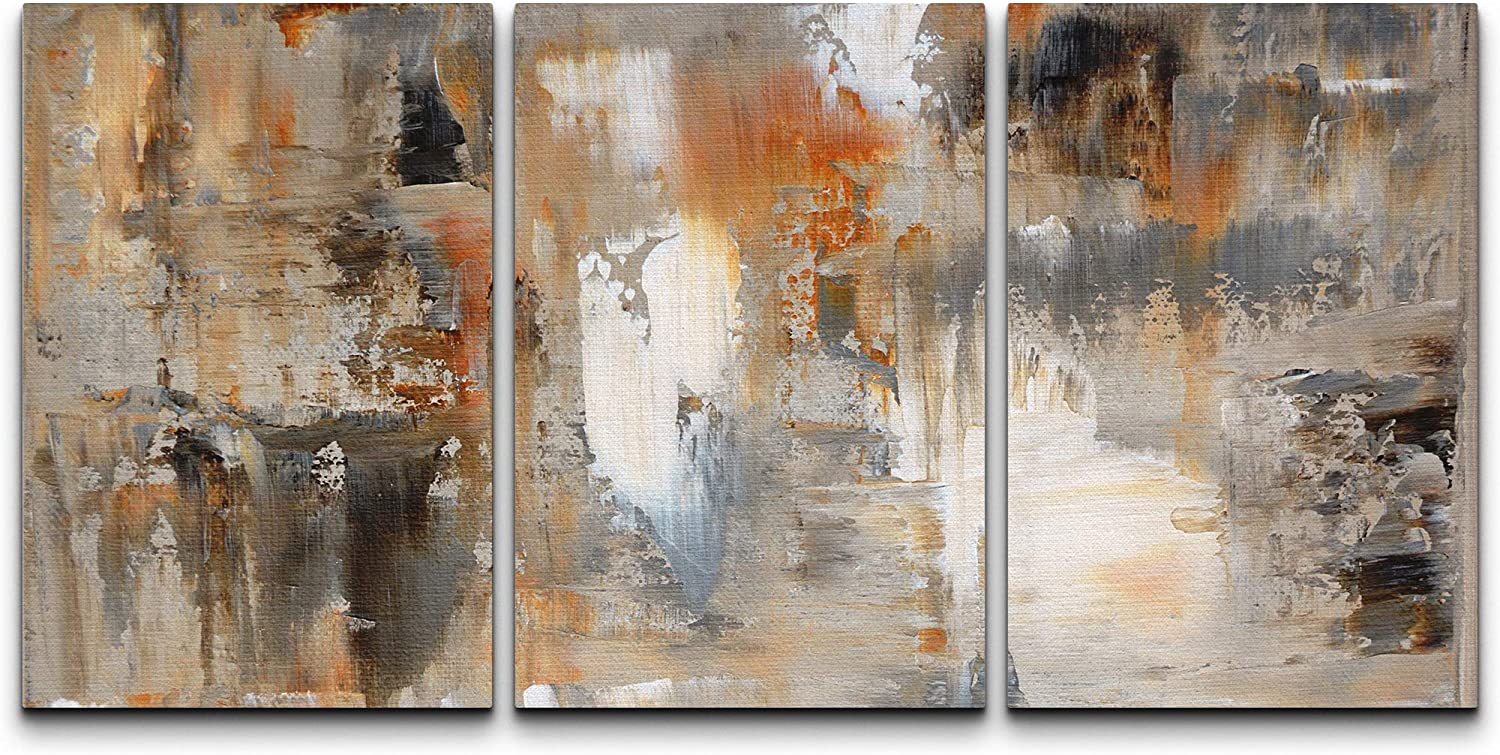 free wall26 Max 80% OFF - Brown and Beige Canvas Wall Art Painting 24