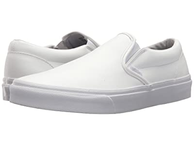 Vans Classic Slip-Ontm ((Classic Tumble) True White) Skate Shoes
