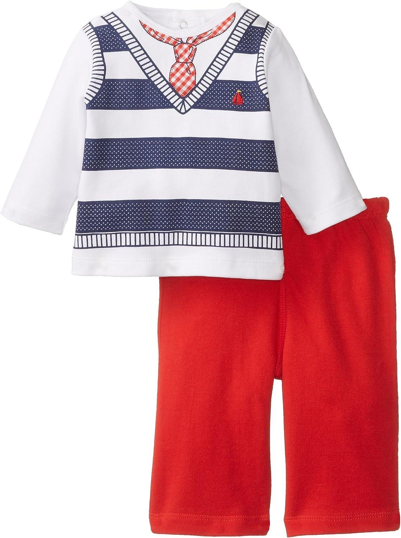 Little Me Baby Boys Newborn Striped Vest Novelty Pant Set